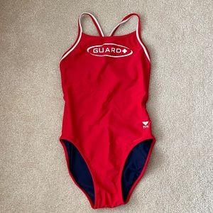 WOMAN'S LIFEGUARD Swimsuit SIZE 34